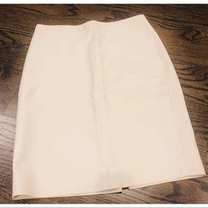 J. Crew Cream Pencil Skirt